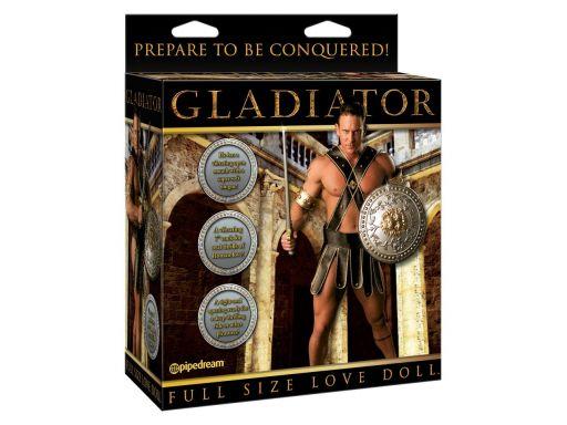 Dmuchana lalka dla kobiet gladiator z wibracjami
