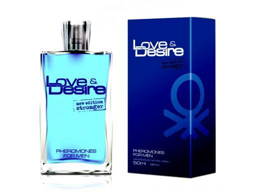 Perfumy z feromonami love desire męskie nowe 50ml