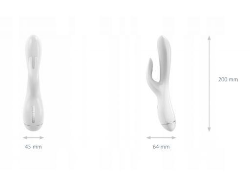 Biały wibrator ovo k3 white stymulator łechtaczki